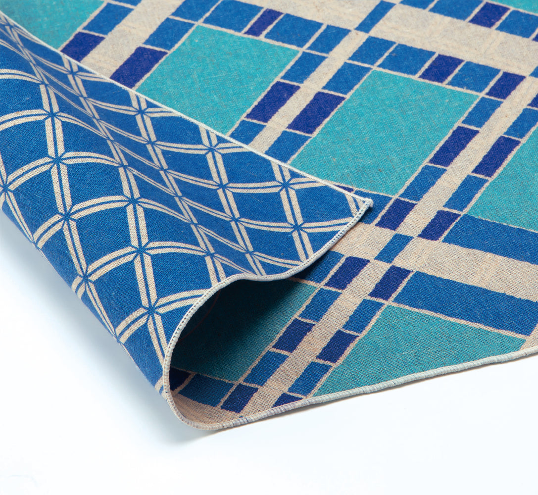 Double Sided Patterns Furoshiki Wrapping Cloth | Moroccan Blue by Sanyo Shoji - Bento&co Japanese Bento Lunch Boxes and Kitchenware Specialists