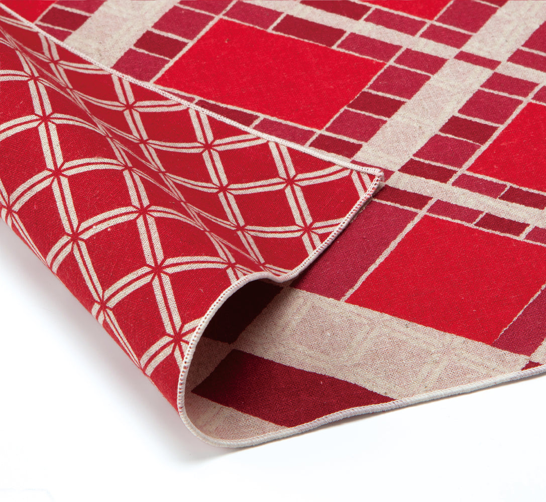 Double Sided Patterns Furoshiki Wrapping Cloth | Moroccan Red by Sanyo Shoji - Bento&co Japanese Bento Lunch Boxes and Kitchenware Specialists