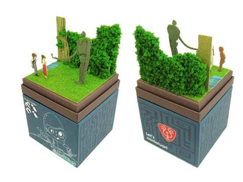 Miniatuart | Castle in the Sky : The robot Sheeta and Pazu by Sankei - Bento&con the Bento Boxes specialist from Kyoto