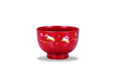 Cherry Blossom Rabbits Bowl by Showa - Bento&con the Bento Boxes specialist from Kyoto