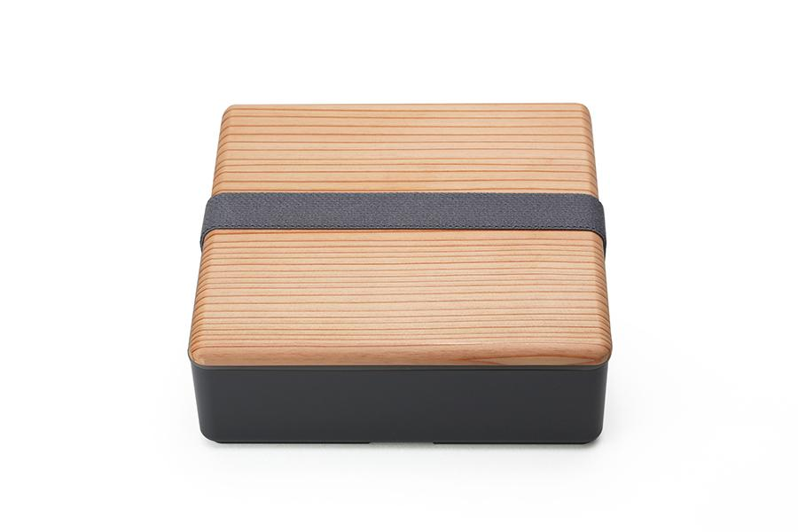 Wood Lid Ojyu Bento | Gray by Gel Cool - Bento&co Japanese Bento Lunch Boxes and Kitchenware Specialists