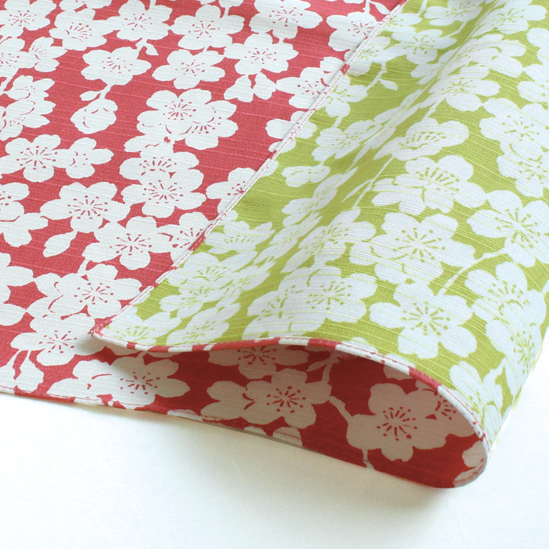 Furoshiki Shidare 48cm | Pink & Green by Yamada Seni - Bento&co Japanese Bento Lunch Boxes and Kitchenware Specialists