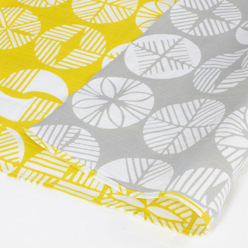 104 Isa monyo Reversible | Pine Yellow/Gray by Yamada Seni - Bento&co Japanese Bento Lunch Boxes and Kitchenware Specialists