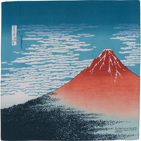 Hokusai Ukiyo-e Furoshiki | South Wind, Clear Sky by Yamada Seni - Bento&co Japanese Bento Lunch Boxes and Kitchenware Specialists