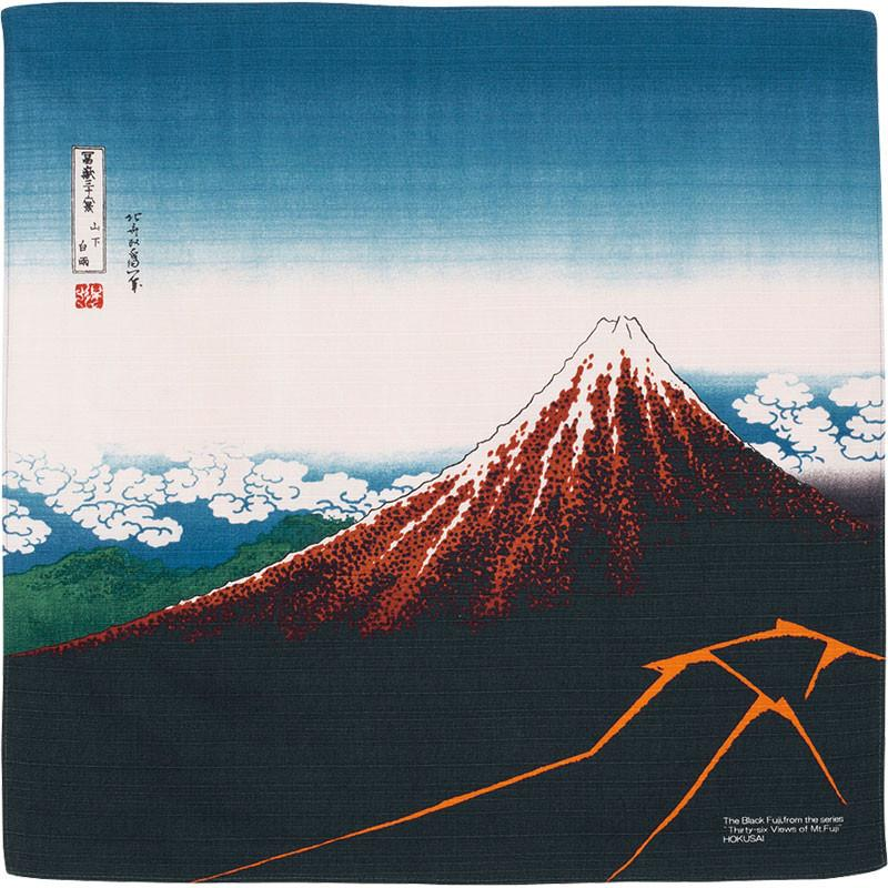 Hokusai Ukiyo-e Furoshiki | Rainstorm Beneath the Summit