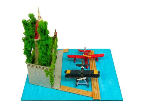 Miniatuart | Porco Rosso : Adriano and the seaplane by Sankei - Bento&con the Bento Boxes specialist from Kyoto