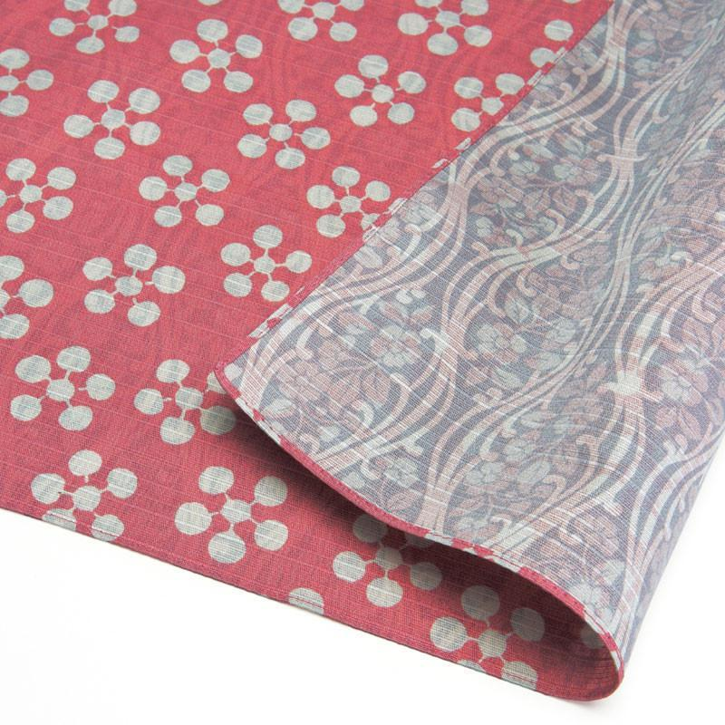Double Sided Cotton Furoshiki Wrapping Cloth | Apricot Flowers Pink