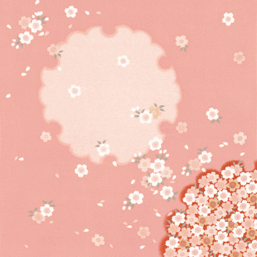 Rayon Furoshiki Wrapping Cloth | Pink Sakura