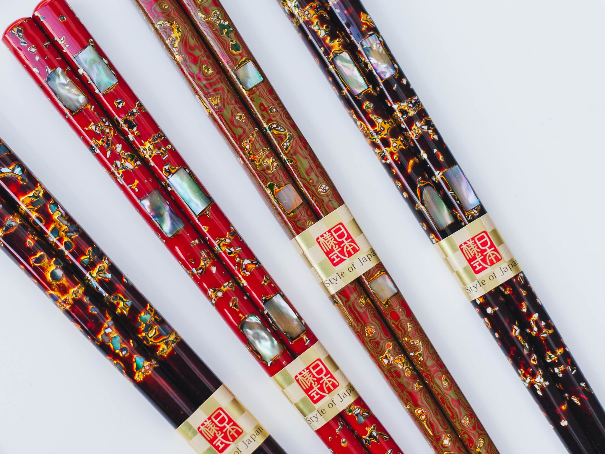 Mother-of-Pearl Lacquer Chopsticks | Shining Red