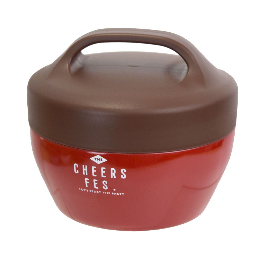Cheers fes Thermos Bowl Red by Sabu Hiromori - Bento&co Japanese Bento Lunch Boxes and Kitchenware Specialists