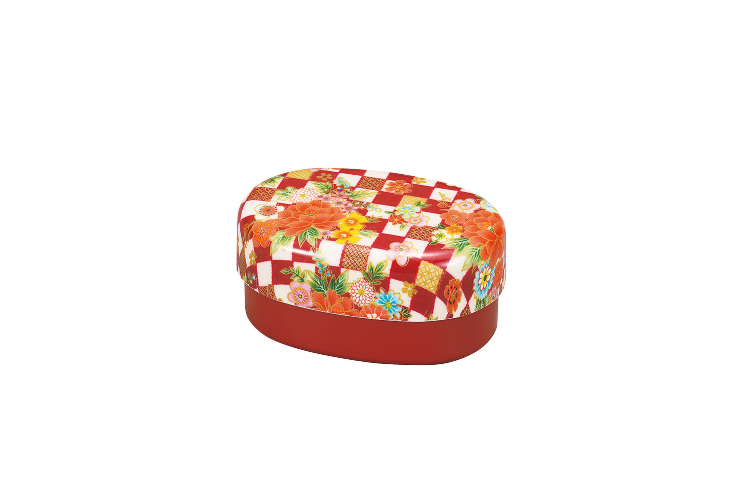 Ichimatsu Flower Bento Box small Red by Hakoya - Bento&co Japanese Bento Lunch Boxes and Kitchenware Specialists