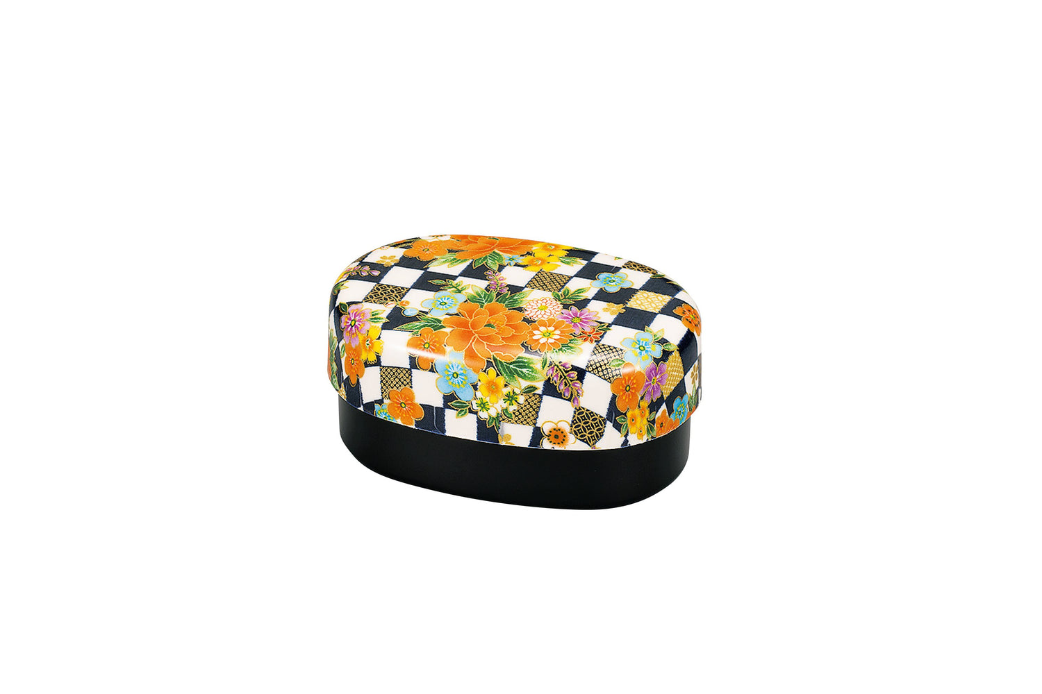 Ichimatsu Flower Bento Box Small Navy by Hakoya - Bento&co Japanese Bento Lunch Boxes and Kitchenware Specialists