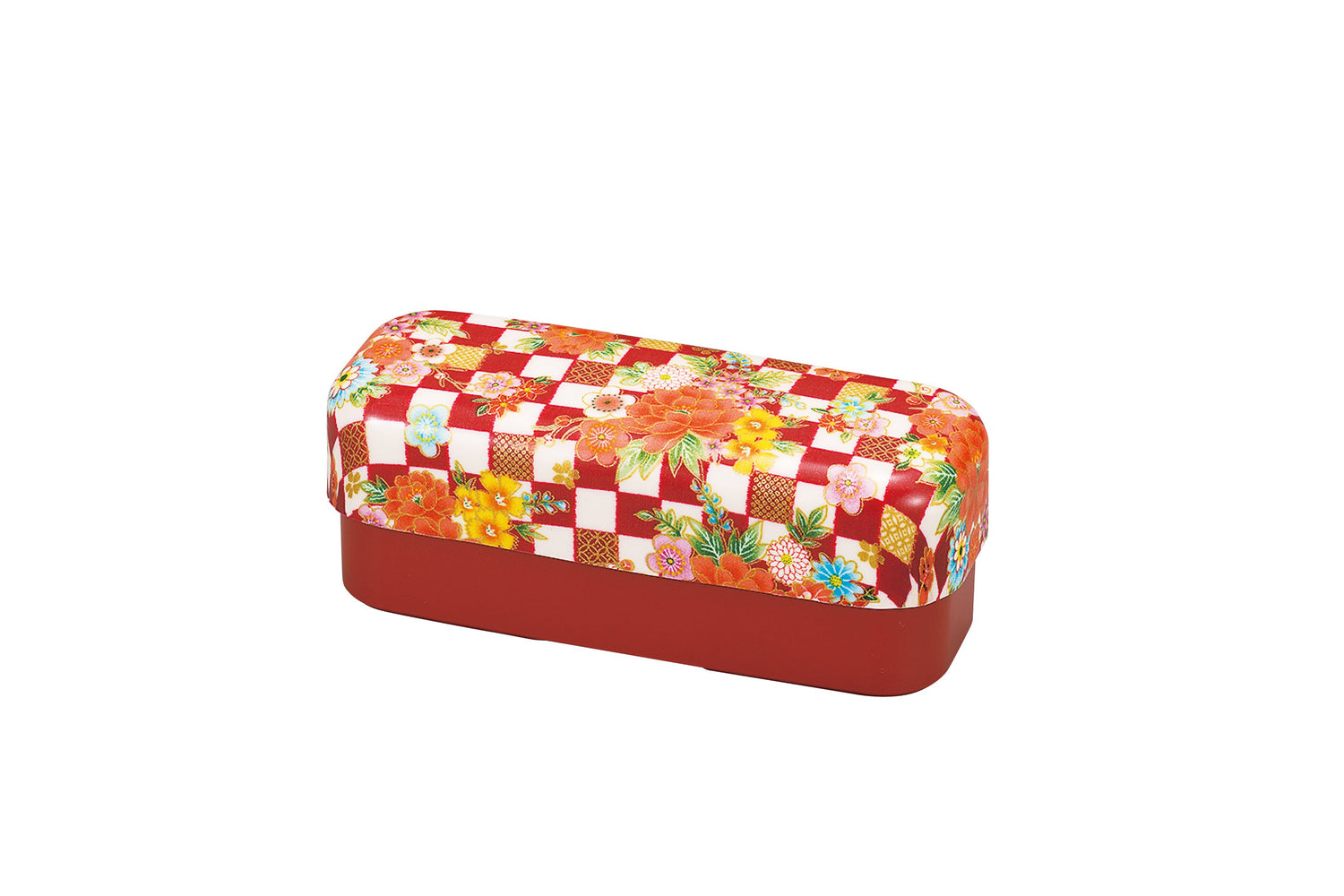 Ichimatsu Flower Bento Box Slim Red by Hakoya - Bento&co Japanese Bento Lunch Boxes and Kitchenware Specialists