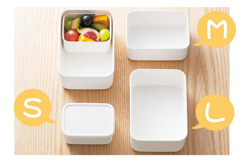 Lunch Plus Container M | White by Hakoya - Bento&co Japanese Bento Lunch Boxes and Kitchenware Specialists