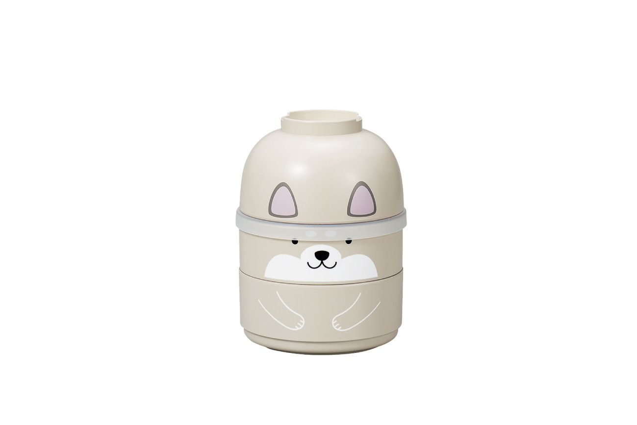 Kokeshi Shiba Inu Bento | Grey by Hakoya - Bento&co Japanese Bento Lunch Boxes and Kitchenware Specialists