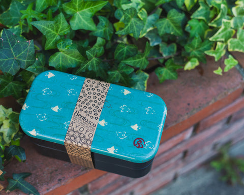 Wafu Cloth Rectangle Bento Box Large | Plover