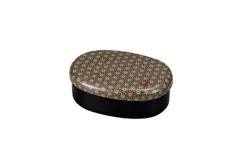 Wafu Cloth Round Bento Box | Asanoha Leaf