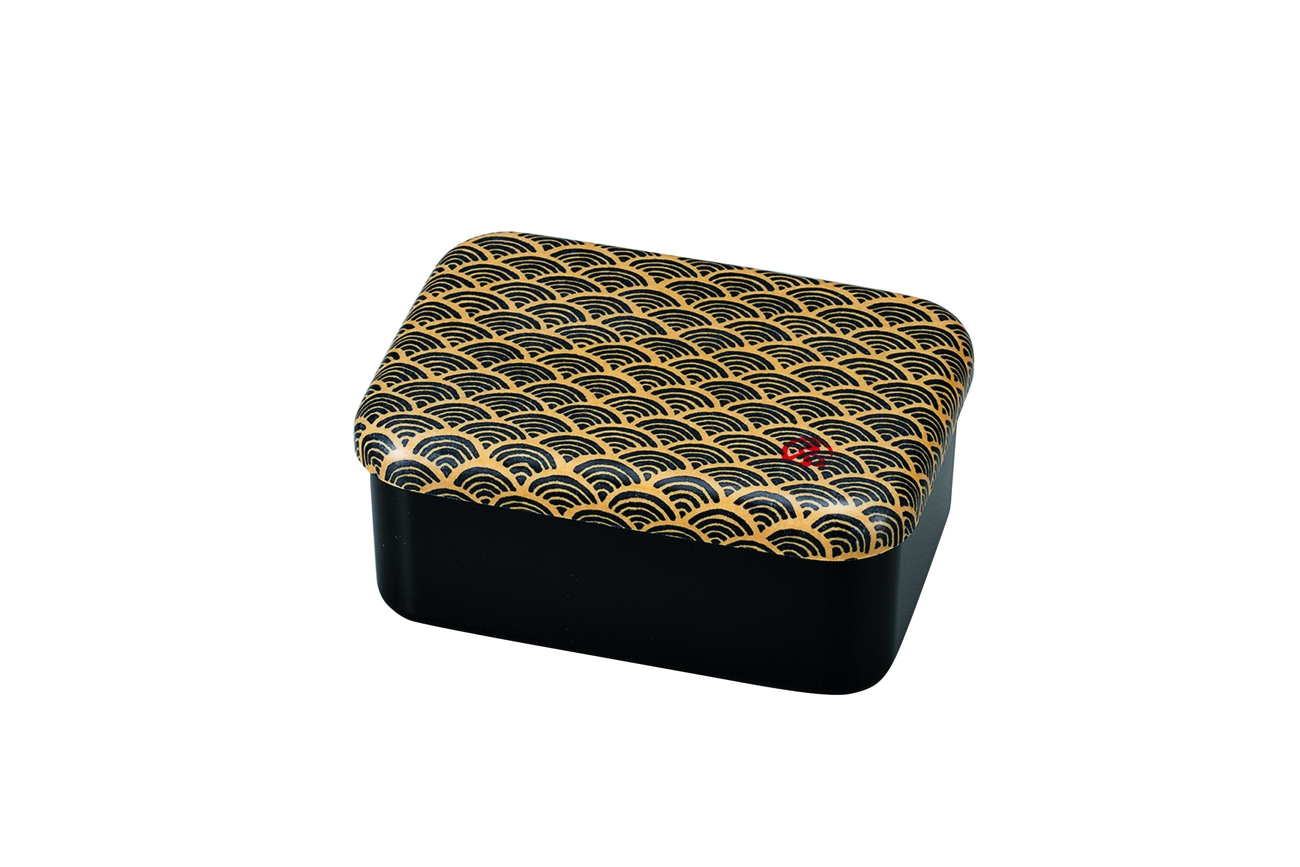 Wafu Cloth One Tier Rectangle Bento Box | Ocean Wave by Hakoya - Bento&co Japanese Bento Lunch Boxes and Kitchenware Specialists
