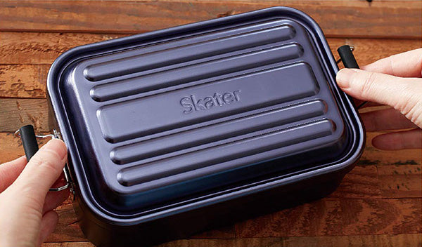 Aluminum Bento Lunch Box 600ml | Black by Skater - Bento&co Japanese Bento Lunch Boxes and Kitchenware Specialists