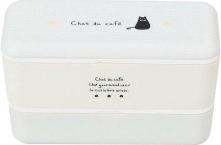 Chat du Cafe Rectangle Wood Bento Box | White by Showa - Bento&co Japanese Bento Lunch Boxes and Kitchenware Specialists