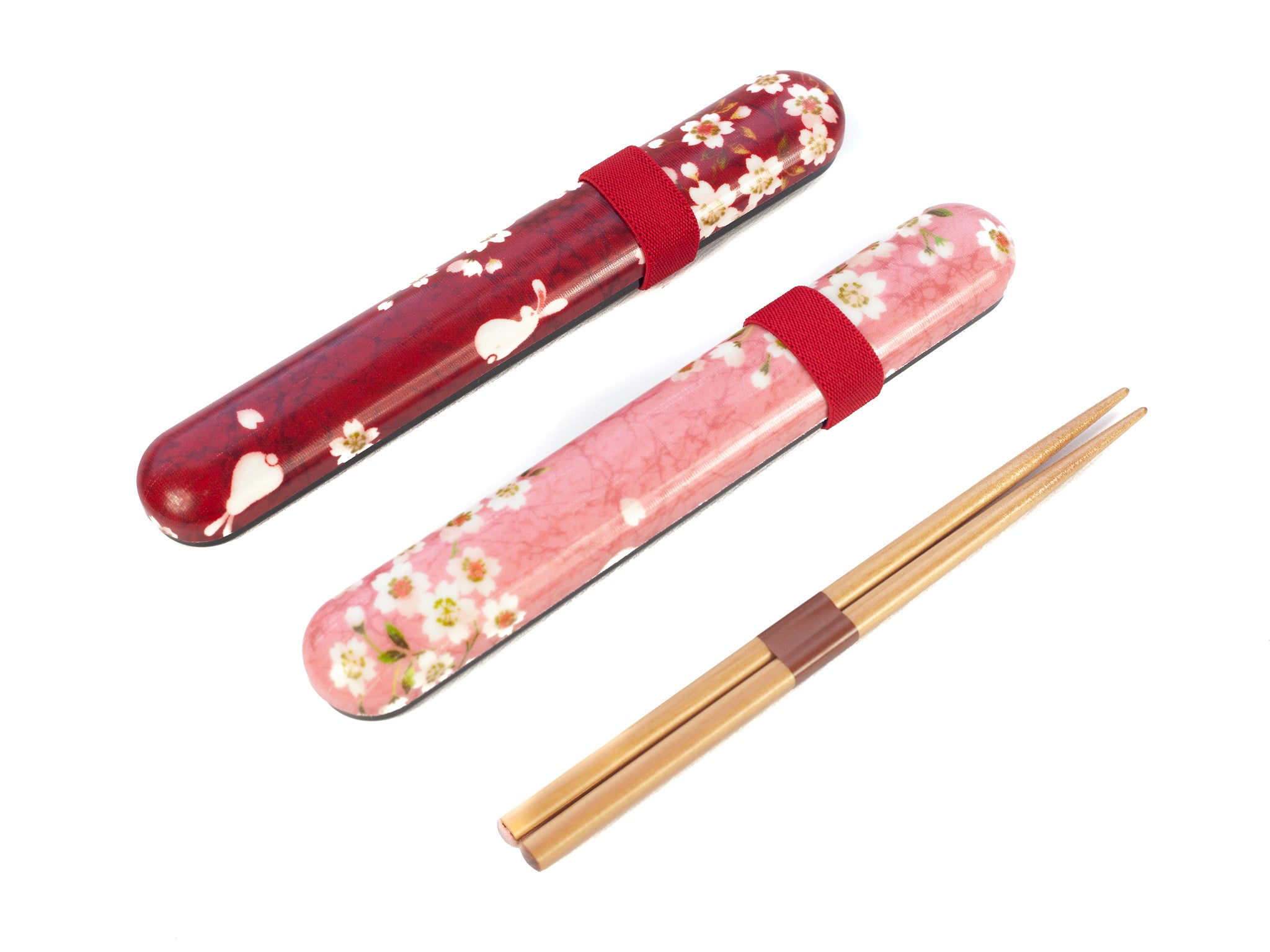 Sakura Rabbit Chopsticks Set | Red