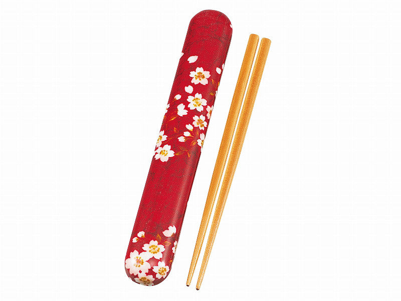 Sakura Rabbit Chopsticks Set | Red by Hakoya - Bento&co Japanese Bento Lunch Boxes and Kitchenware Specialists