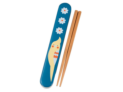 Kotoritachi Chopsticks | Blue Okameinko by Hakoya - Bento&con the Bento Boxes specialist from Kyoto