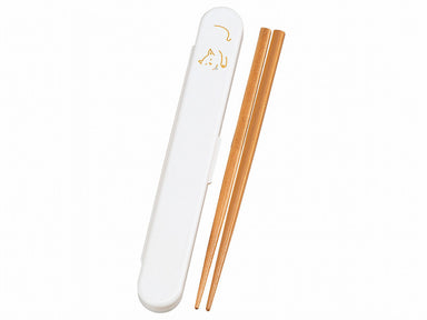 Mame Neko Chopsticks Set | White by Hakoya - Bento&co Japanese Bento Lunch Boxes and Kitchenware Specialists