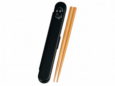 Mame Neko Chopsticks Set | Black by Hakoya - Bento&co Japanese Bento Lunch Boxes and Kitchenware Specialists