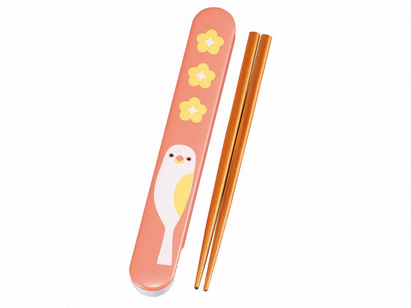 Kotoritachi Chopsticks: 2nd Edition | Peach Sparrow by Hakoya - Bento&con the Bento Boxes specialist from Kyoto