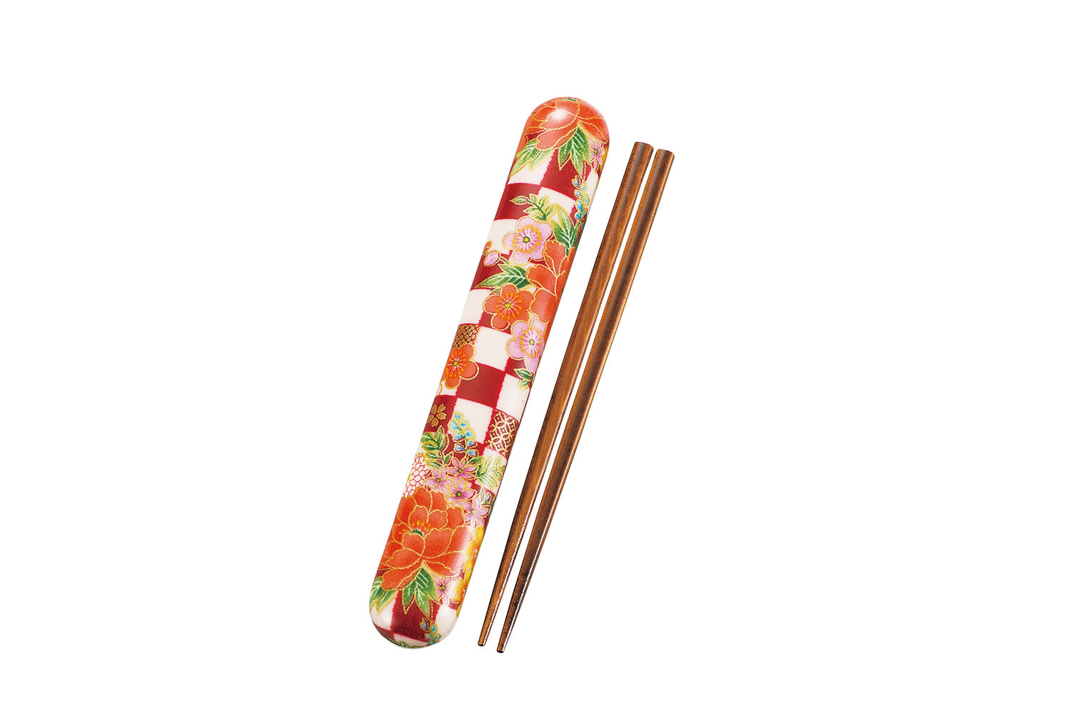 Ichimatsu flower Chopsticks Red by Hakoya - Bento&co Japanese Bento Lunch Boxes and Kitchenware Specialists