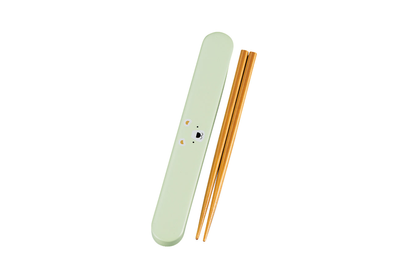 Kokeshi Kuma Chopsticks Set | Green