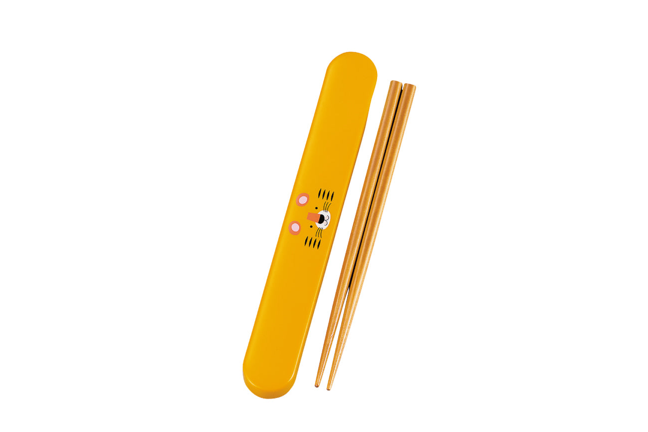 Kokeshi Tora Chopsticks Set | Yellow by Hakoya - Bento&co Japanese Bento Lunch Boxes and Kitchenware Specialists