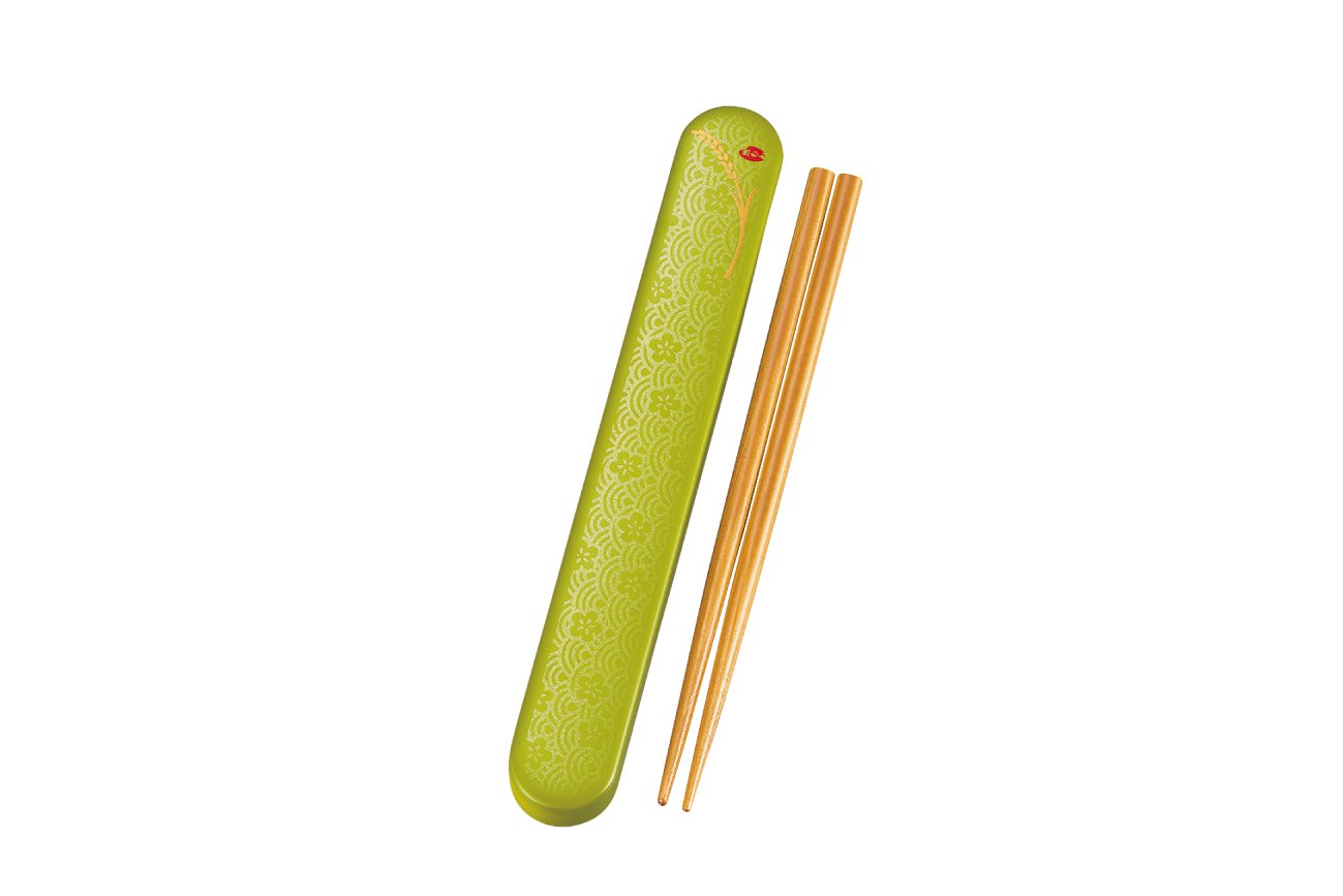 Komemon Lacquer Wood Chopsticks | Green by Hakoya - Bento&co Japanese Bento Lunch Boxes and Kitchenware Specialists