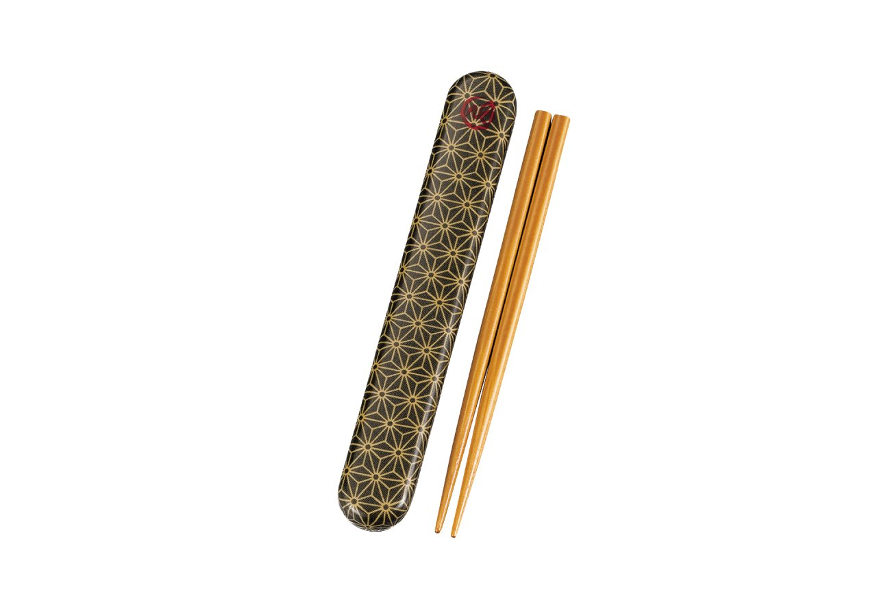 Wafu Cloth Chopsticks Set | Asanoha Leaf by Hakoya - Bento&co Japanese Bento Lunch Boxes and Kitchenware Specialists