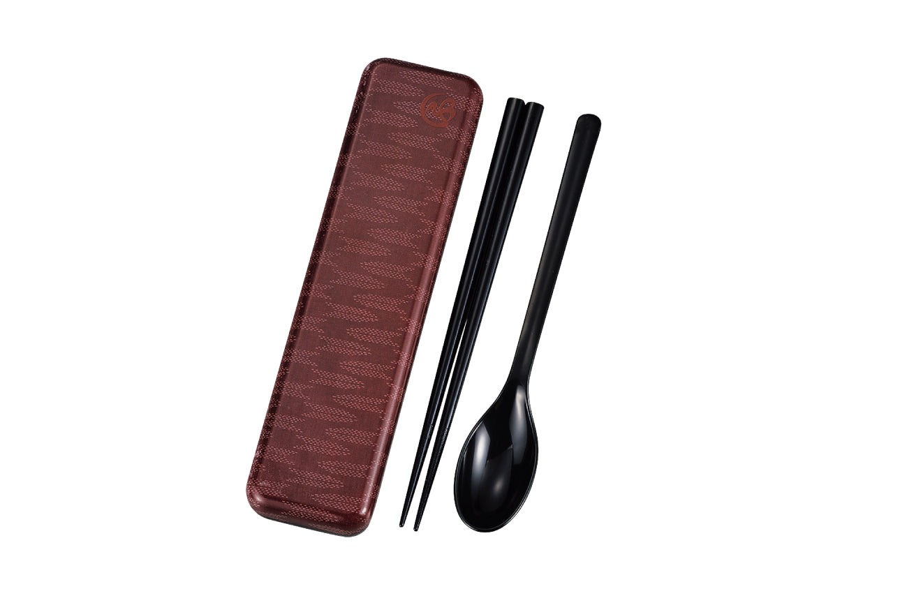 Wafu Cloth Chopsticks and Spoon Set | Arrow by Hakoya - Bento&co Japanese Bento Lunch Boxes and Kitchenware Specialists