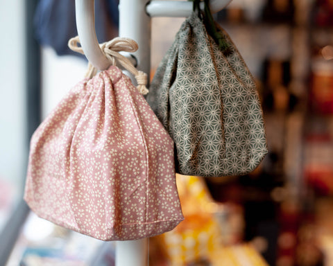 Wafu Cloth Bag | Asanoha Leaf by Hakoya - Bento&co Japanese Bento Lunch Boxes and Kitchenware Specialists