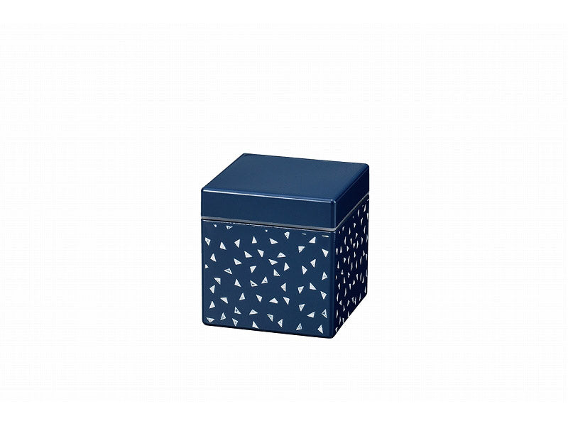 Some Mon Square Canister 350 Yuki Indigo by Hakoya - Bento&co Japanese Bento Lunch Boxes and Kitchenware Specialists