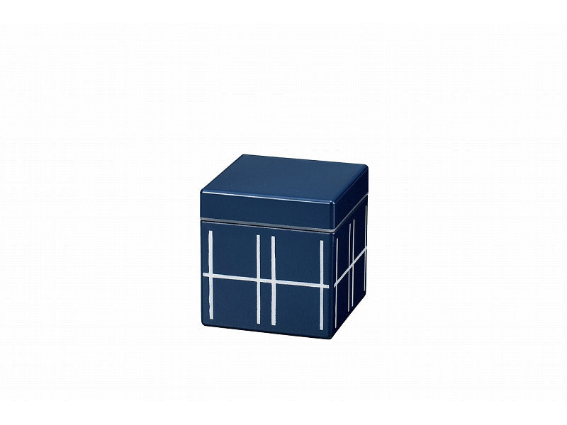Some Mon Square Canister 350 Mizu Indigo by Hakoya - Bento&co Japanese Bento Lunch Boxes and Kitchenware Specialists