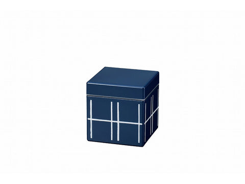Some Mon Square Canister 350 Mizu Indigo by Hakoya - Bento&con the Bento Boxes specialist from Kyoto