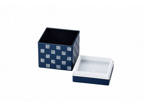 Some Mon Square Canister 800 Hana Indigo by Hakoya - Bento&con the Bento Boxes specialist from Kyoto