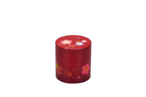 Sakura Tea Box Small | Red by Hakoya - Bento&co Japanese Bento Lunch Boxes and Kitchenware Specialists