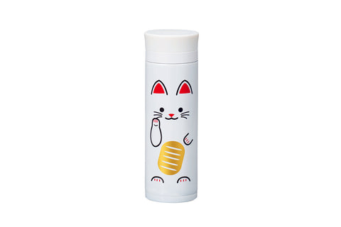 Manekineko Stainless Steel Bottle | White