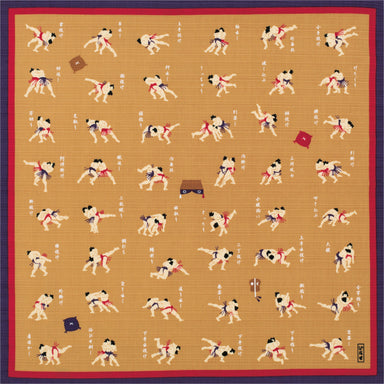 Traditional Cotton Furoshiki Wrapping Cloth | Sumo Wrestlers by Sanyo Shoji - Bento&co Japanese Bento Lunch Boxes and Kitchenware Specialists