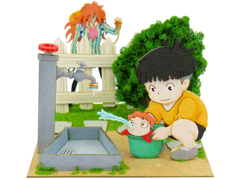 Miniatuart | Ponyo on the Cliff by the Sea : Sousuke, Ponyo and Fujimoto by Sankei - Bento&co Japanese Bento Lunch Boxes and Kitchenware Specialists