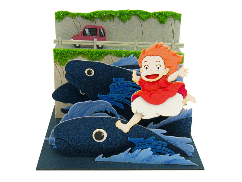 Miniatuart | Ponyo on the Cliff by the Sea : Ponyo running on fish by Sankei - Bento&co Japanese Bento Lunch Boxes and Kitchenware Specialists