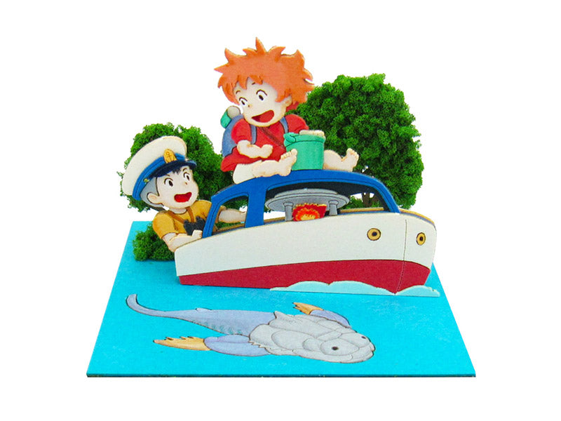 Miniatuart | Ponyo on the Cliff by the Sea: On the Pop Pop Boat by Sankei - Bento&co Japanese Bento Lunch Boxes and Kitchenware Specialists