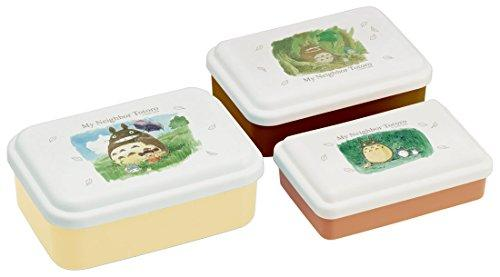 Totoro Watercolor Lunch Box 3P set by Skater - Bento&co Japanese Bento Lunch Boxes and Kitchenware Specialists