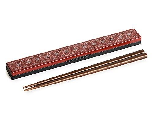 Asanoha Leaf Chopstick Set | Red by Sabu Hiromori - Bento&co Japanese Bento Lunch Boxes and Kitchenware Specialists