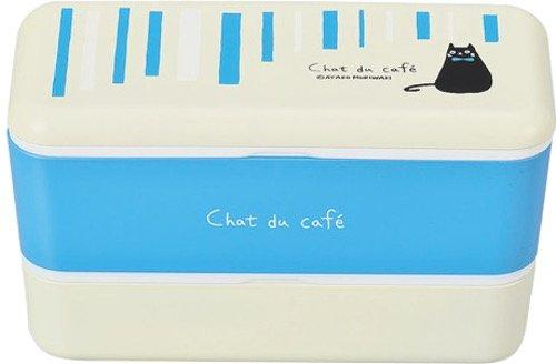 Chat du Cafe Rectangle Bento Box | Blue by Showa - Bento&co Japanese Bento Lunch Boxes and Kitchenware Specialists